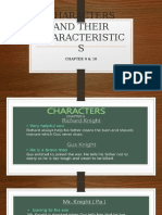 Characters and Their Characteristics