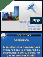 PHARMACEUTICAL SOLUTIONS (ZARA KHAN BP0950212) (1).pptx