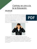 Paul McCartney Se Une a La Causa de La Educación Musical