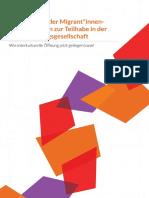 Impulspapier MigrantInnenorganisationen zur Teilhabe in der Einwanderungsgesellschaft (2016)