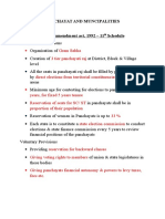 Panchayat and Muncipalities