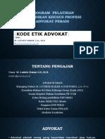 Materi Pkpa Kode Etik Advokat