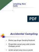 Teknik Sampling Non Probabilistik