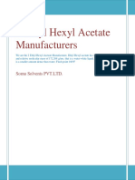 2 Ethyl Hexyl Acetate Manufacturers