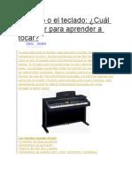 El Piano o El Teclado