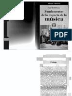 Fundamentos de La Historia de La Musica