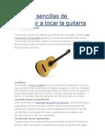 Formas Sencillas de Aprender a Tocar La Guitarra
