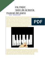 Posea Una Mejor Comprensión de La Teoría Musical Del Piano