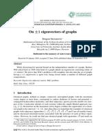 On +/-1 eigenvectors of graphs