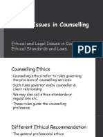 Ethical Issues in Counselling