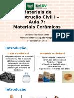 Aula 07 - Materiais Cerâmicos