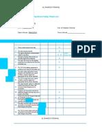 Ship Shore Checklist