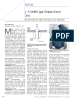 Beyond Gravity - Centrifugal Separations in CPI Operations