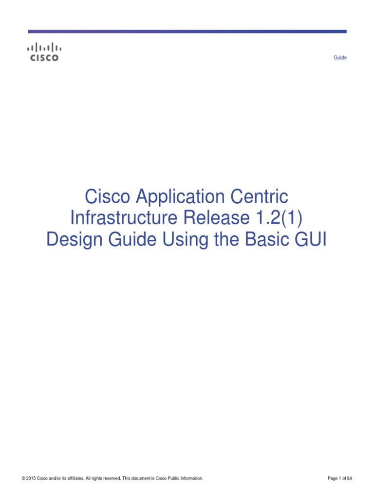 Cisco ACI Design Guide Using Basic GUI | Computer Network | Network