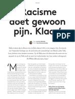 Folia 062016_Racisme Doet Gewoon Pijn