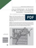 Efeitos Da Globalização e Da Sociedade Em Rede via Internet Na Formação de Sociedades Contemporaneas