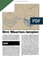 Een instructie-artikel uit 1979 over het maken van een Sint Maarten lampion