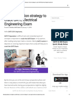 20 Days Revision Strategy to Crack GATE Electrical Engineering Exam