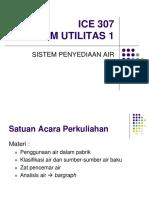 Sistem Utilitas Penyediaan Air 2016