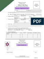 B a LL B. Application Form