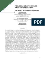 Nanometrología Impacto en Los Sistemas de Producción