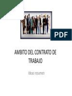 El Contrato de Trabajo 1-3. Diapositivas Resumen