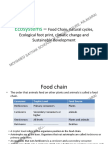 Sustainable Planning and Architecture - Ecosystems Food Chain Natural Cycles