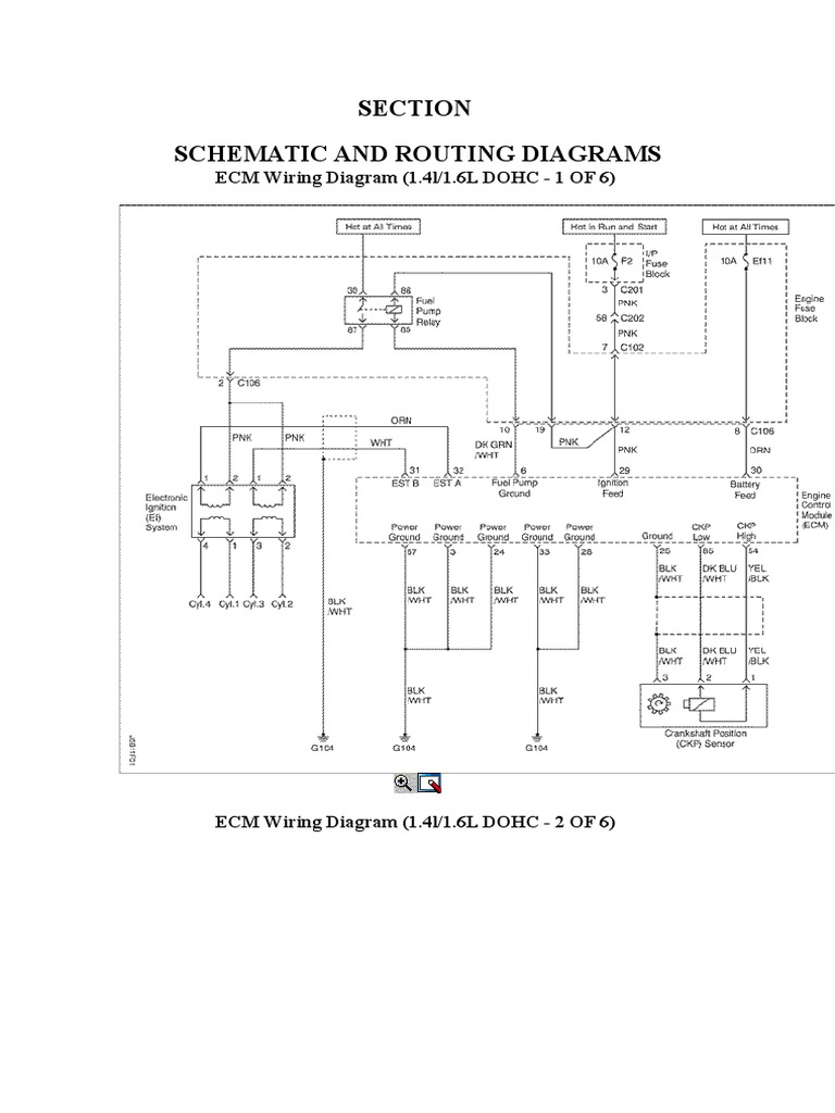 Daewoo Lacetti Wiring Diagram Library Of Engine Diagrams Ecm Optra Nubbira Docx Components Engines Rh Scribd Com Nubira 2006