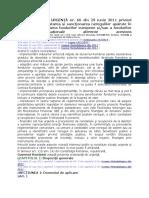 Ordonanta de Urgenta Nr. 66 Din 29 Iunie 2011