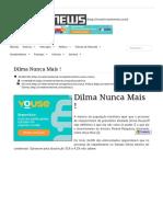 Dilma Nunca Mais ! - InvestsNEWS