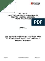 KOMATSU Uso Instrumentos de Medicion Manual