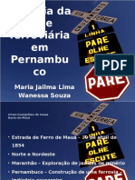 História Da Rede Ferroviária Em Pernambuco