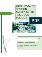 Propuesta de Gestion Ambiental de Residuos