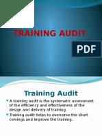 Training Audit