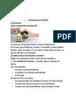 La Herencia en El Perú