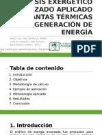 Análisis Exergético Avanzado Aplicado a Plantas Térmicas De