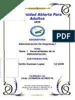 Tema I Generalidades de La Administracion