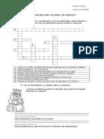 Crucigrama Organizacion Politica