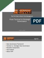 Tactical vs Strategic Data Governance
