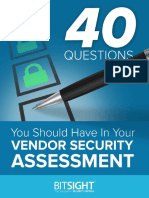 40 Questions Vendor Security Assessment