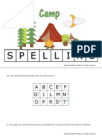 Camp Spelling