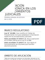 Tramitación Electrónica en Los Procedimientos Judiciales 08-11-2016