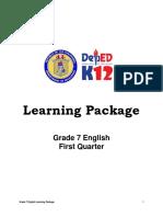 Lp First Quarter Grade 7 English
