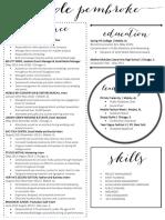 pembroke nicole resume online