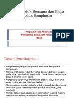 Alokasi Biaya, Departemen, Produk Gabungan Dan Produk Samping