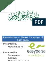 Easy Paisa Marketing Compaign