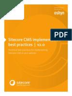 Sitecore Best Practices Implementation