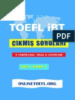 TOEFL IBT Çıkmış soruları set 1 kitap 1