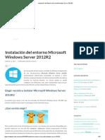 Instalación Del Entorno Microsoft Windows Server 2012R2