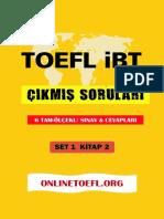 TOEFL ibt çıkmış soruları set 1 kitap 2